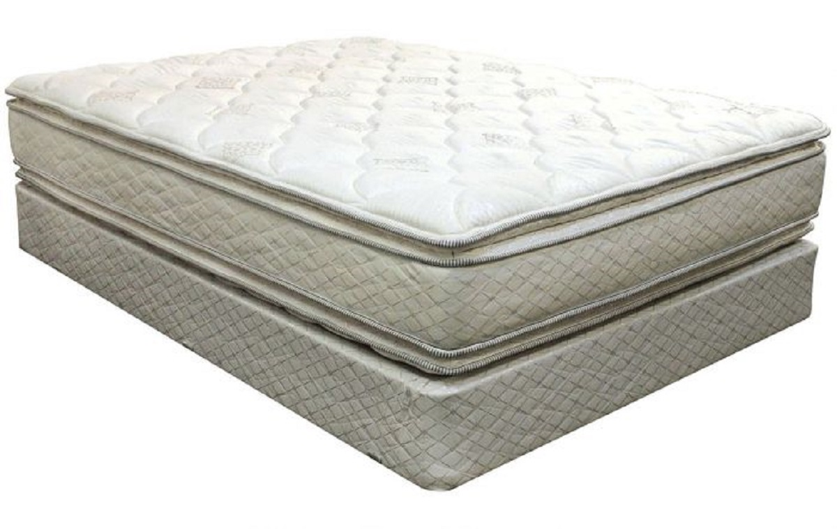 DOUBLE PILLOW TOP MATTRESS WITH FOUNDATION